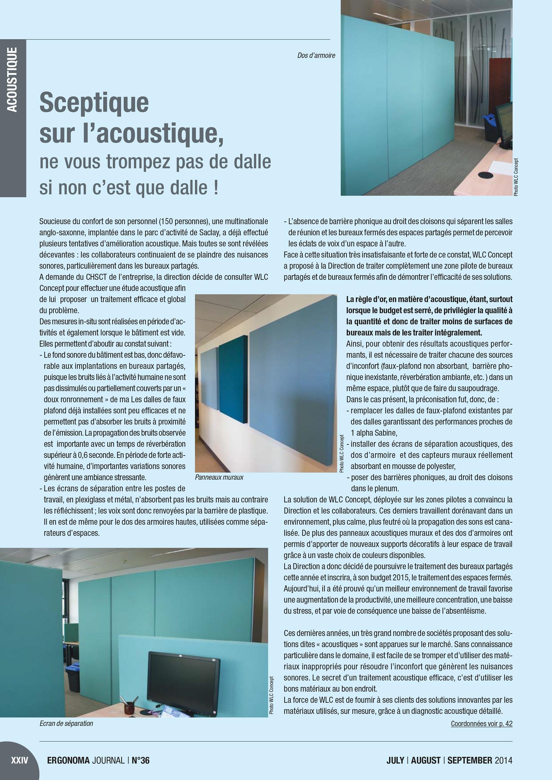 Article paru dans : Ergonoma Journal Juin 2014